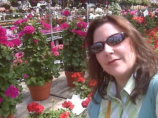 Monica at Bachman's Flowers in Minneapolis