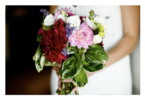 Bridal Bouquet: Dahlias, Lavender